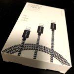 DUXDUCISのライトニングケーブル3本セットパッケージ